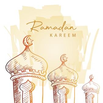 Cartão de ramadan kareem.