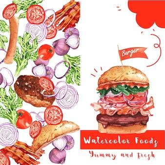 Cartão de restaurante de fast food
