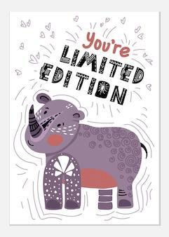 Cartão de rinoceronte