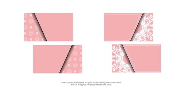 Cartão-de-rosa com padrão branco indiano para seus contatos.