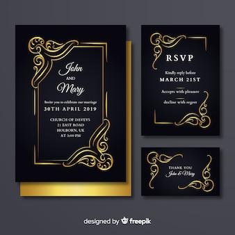 Cartão de rsvp de casamento