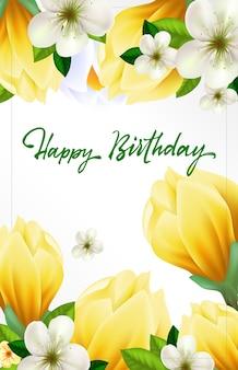 Cartão de saudação de aniversário