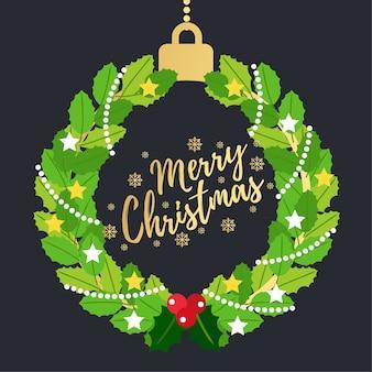 Cartão de saudação de feliz Natal.