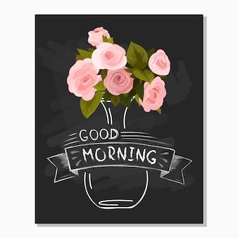 Cartão de saudação de flor