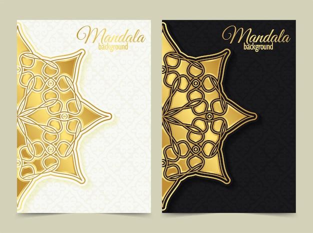 Cartão de saudação de luxo estilo mandala