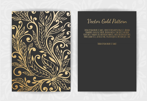 Cartão de saudação de ouro preto