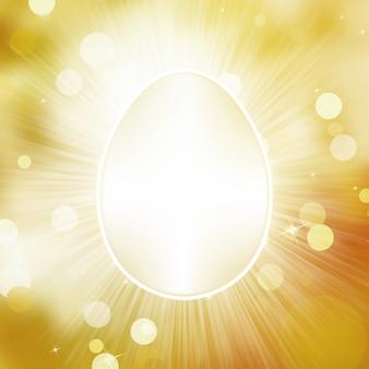 Cartão de saudação de ovo de páscoa.