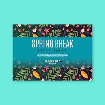 Cartão de saudação de primavera desenhado à mão