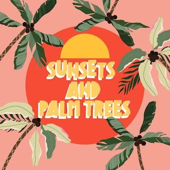 Cartão de saudação de verão citação na moda.