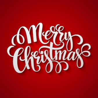Cartão de saudação feliz natal letras