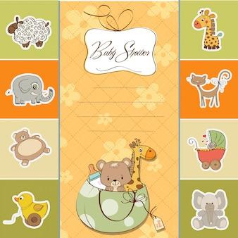 Cartão de saudação infantil dos desenhos animados