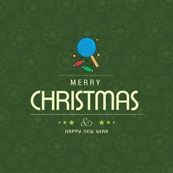 Cartão de saudações de natal