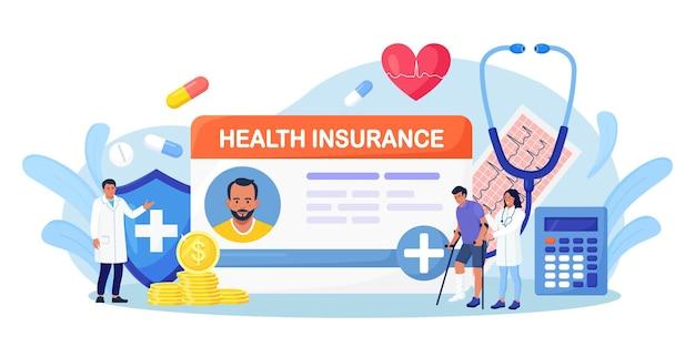 Cartão de seguro de saúde com comprimidos, estetoscópio. doctor consulting, paciente com deficiência com perna quebrada no consultório do hospital. proteção da saúde e da vida com documento. caixa de seguro