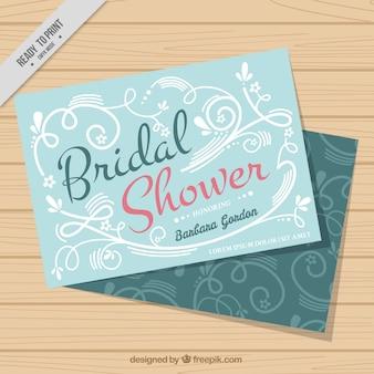 Cartão de solteira floral