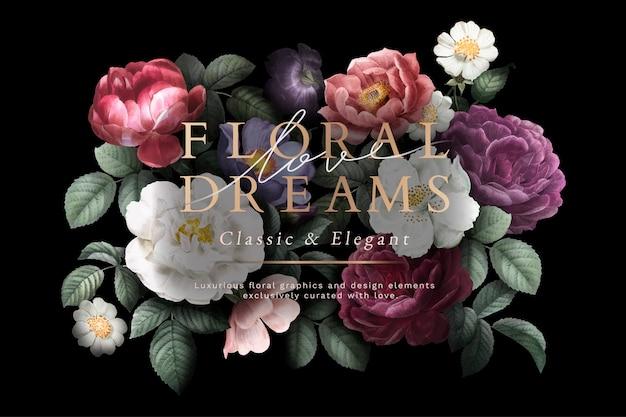 Cartão de sonhos florais