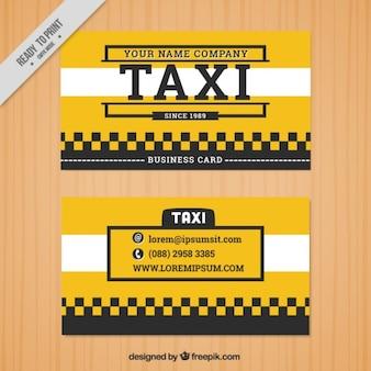 Cartão de táxi amarelo