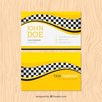 Cartão de táxi com ondas
