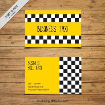 Cartão de táxi negócios