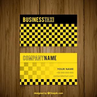 Cartão de taxista abstrato com quadrados