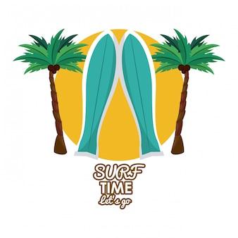 Cartão de tempo de surf