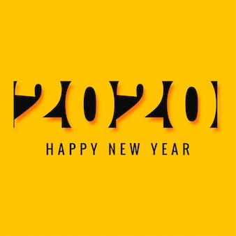 Cartão de texto criativo elegante ano novo 2020