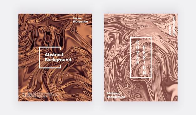 Cartão de textura de mármore líquido aquarela. nude redemoinhos de tinta, design de ondulações