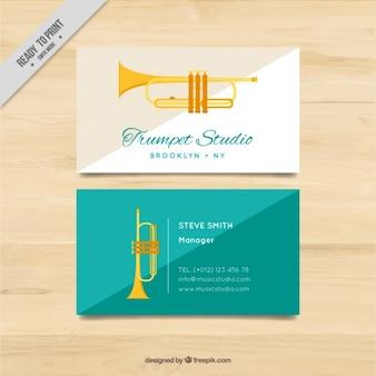 Cartão de trompetista