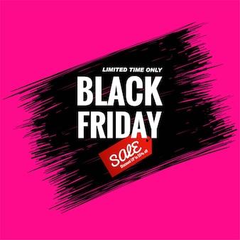 Cartão de venda black friday com linhas