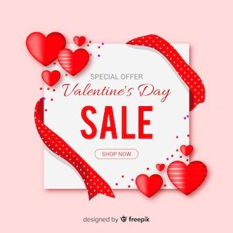 Cartão de venda de dia dos namorados
