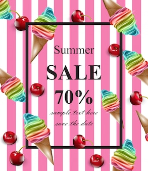 Cartão de venda de verão vector