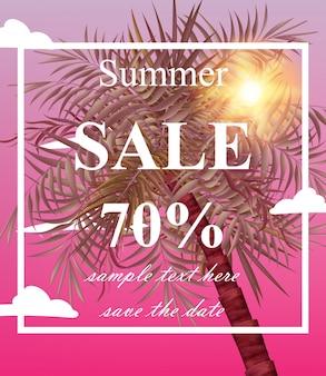Cartão de venda de verão