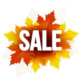 Cartão de venda sazonal de outono