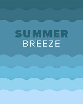 Cartão de verão artístico original com fundo gradiente brilhante