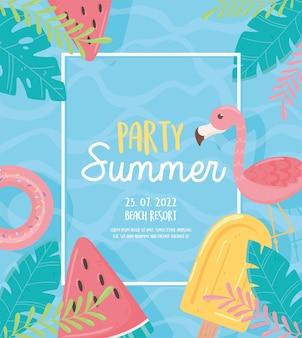 Cartão de verão de festa
