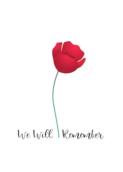 Cartão de vetor do dia da lembrança
