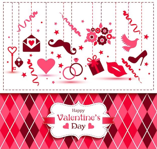 Cartão de vetor do dia dos namorados