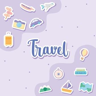 Cartão de viagem bonito