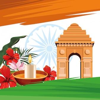 Cartão de viagens e turismo da índia