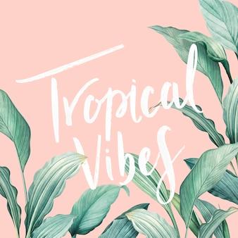 Cartão de vibrações tropicais