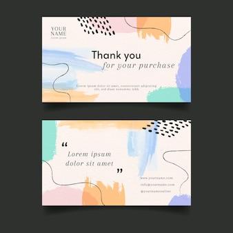 Cartão de visita abstrato aquarela pincel