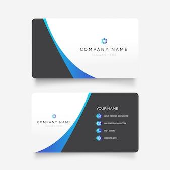 Cartão de visita abstrato azul