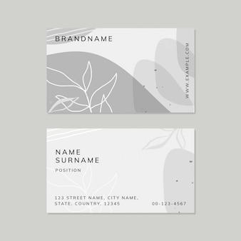 Cartão de visita abstrato botânico de memphis