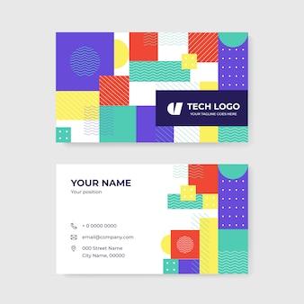 Cartão de visita abstrato colorido