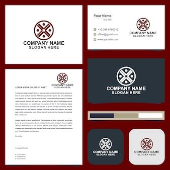 Cartão de visita abstrato design de vetor logotipo identidade modelo ansbusiness card