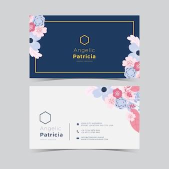 Cartão de visita abstrato floral
