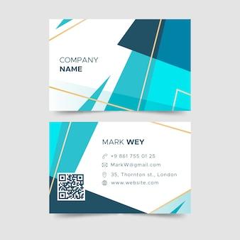 Cartão de visita abstrato geométrico