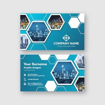Cartão de visita abstrato modelo com imagem