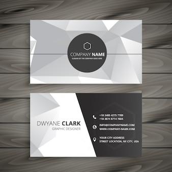 Cartão de visita abstrato na cor cinza