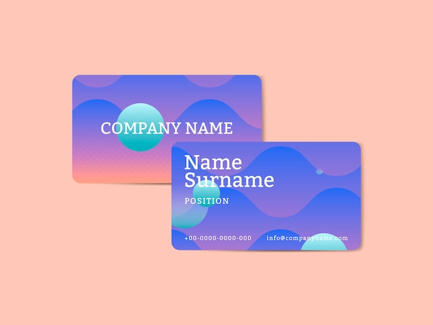 Cartão de visita abstrato vibrante do design