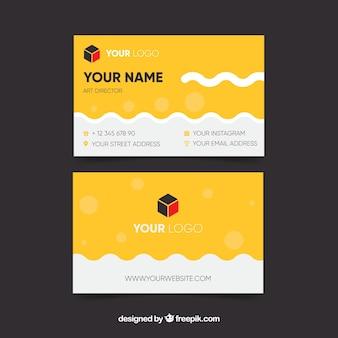 Cartão de visita amarelo criativo